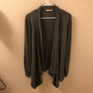 Dark Grey Long sleeve cardigan